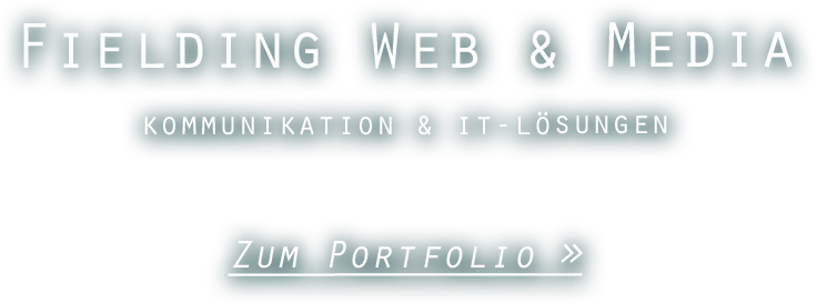 fielding web & media - Kommunikation & IT-Lösungen
